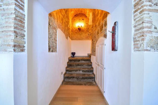 corridor stairways at Palazzo Pizzo Residence in Pizzo Calabro