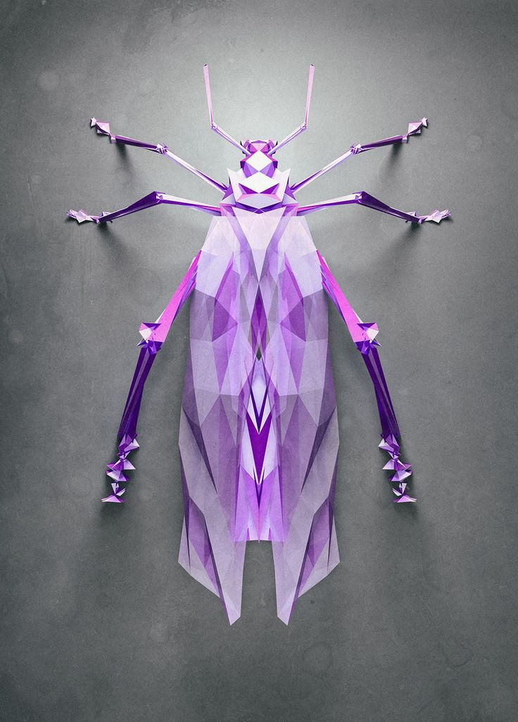 Randomly Generated Polygonal Insects by Istvan Giordano for NeonMob http://www.thisiscolossal.com/2014/12/randomly-generated-polygonal-insects-by-istvan-giordano-for-neonmob/