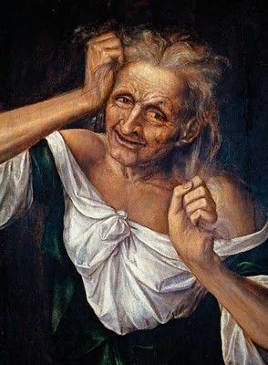 Quentin Matsys (1466-1530). - .Old Woman  Tearing Her Hair