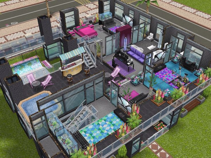 House 103 Party House Level 2 #sims #simsfreeplay #simshousedesign