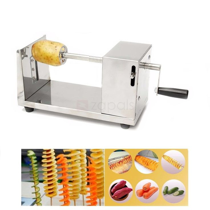 Stainless Steel Potato Chip Slicer Cutter Making Machine. Manual Potato Chip Making Machine  No need of charging, you can make potato chip anytime you want. Premium Stainless Steel Material  Rust-resistant, corrosion-resistant and durable. Multipurpose Using  Beside potato, you can also make radish, cucumber, taro and so on Space-saving Potato Slicer Machine  Convenient to store and can operate alone. Detachable Blade  You can change the blades if the blade is wear out.