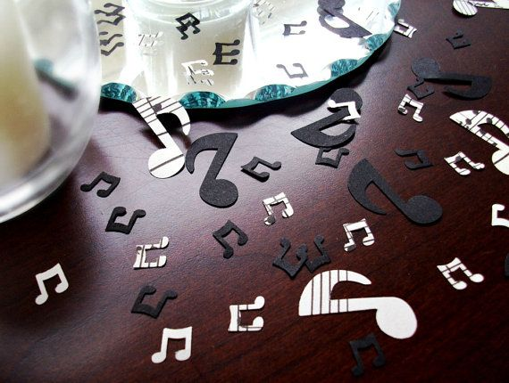 Music Note Confetti  Vintage Sheet Music Paper by BirdcageCards, $12.50