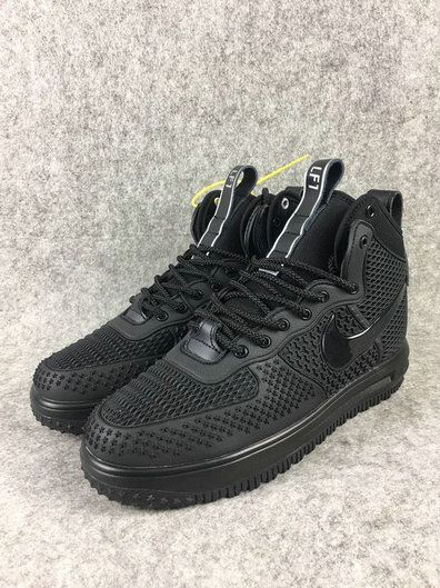 0b91e5d19b99 Nike Lunar Force 1 Duckboot High All Black