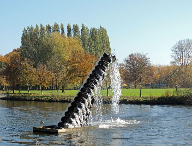 Schroef van Archimedes in het Zuiderpark in 's-Hertogenbosch