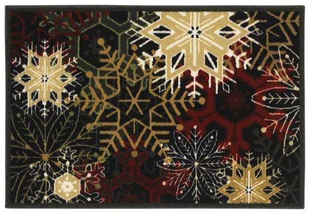 Holiday Collection Snowflakes 3p173 Shaw Area Rug Georgia Carpet Industries