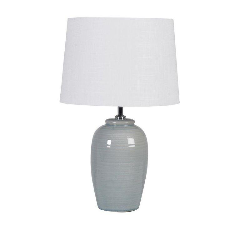 Pale Green Barrel Glazed Table Lamp