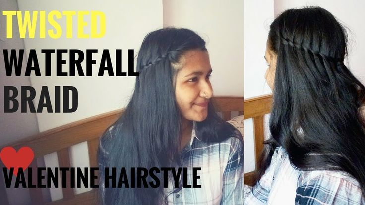 How To Do Twisted Waterfall Braid | Valentine hairstyle 2018