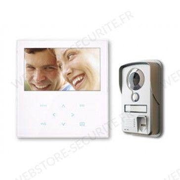 Interphone portier vidéo avec lecteur d'empreintes digitales - Webstore Securite