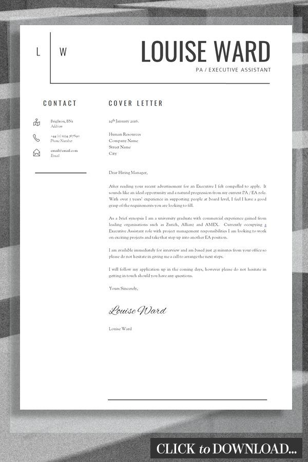 Professional Cover Letter Template For Word Download This Cv And Cover Letter Templat Cover Letter For Resume Cover Letter Design Cover Letter Template Layout