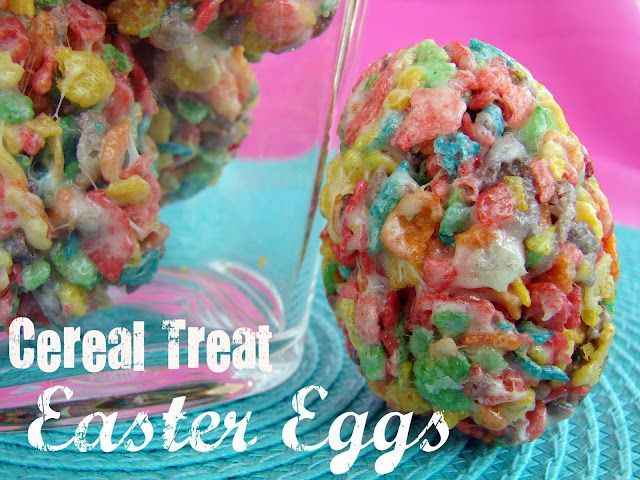 Cereal Treat Easter Eggs: Easter Parties, Eggs Recipe, Fruity Pebble, Easter Eggs, Treats Easter, Cereal Treats, Eggs Crates, Easter Treats, Rice Krispie