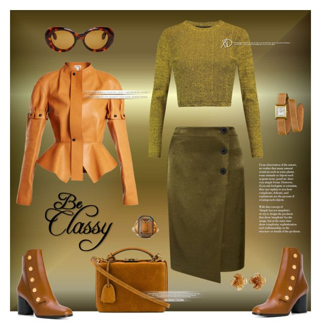 """""""Be classy"""" by zabead ❤ liked on Polyvore featuring Loewe, By Malene Birger, Mulberry, Proenza Schouler, Mark Cross, Acne Studios, Silvia Furmanovich, Hermès and Tiffany & Co."""