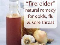 Fire Cider natural remedy for colds, flu and sore throat