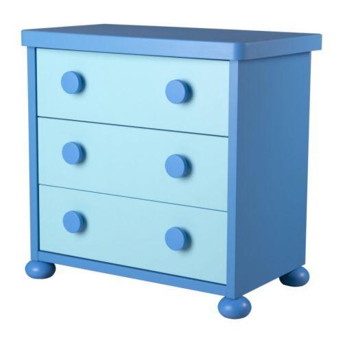 MAMMUT Kommode med 3 skuffer IKEA Uttrekkstopp, skuffene kan ikke trekkes helt ut og falle ned på føttene.