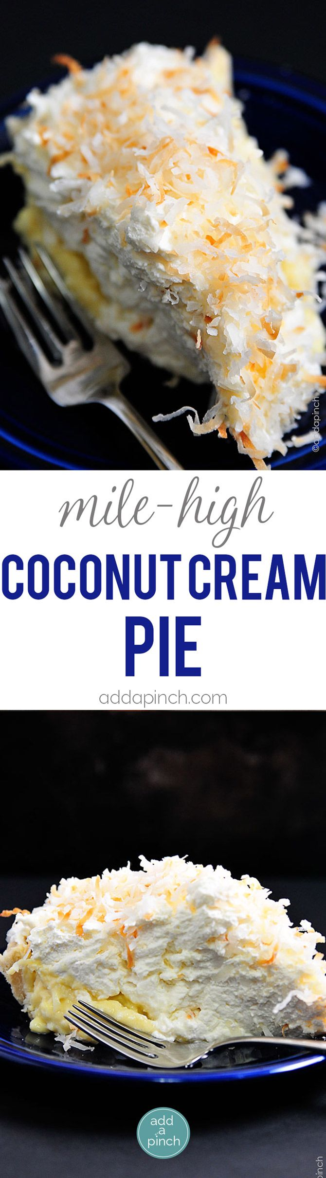 Coconut Cream Pie Recipe - Coconut Cream Pie is a classic. This creamy, dreamy pie recipe will quickly become a family favorite! // addapinch.com