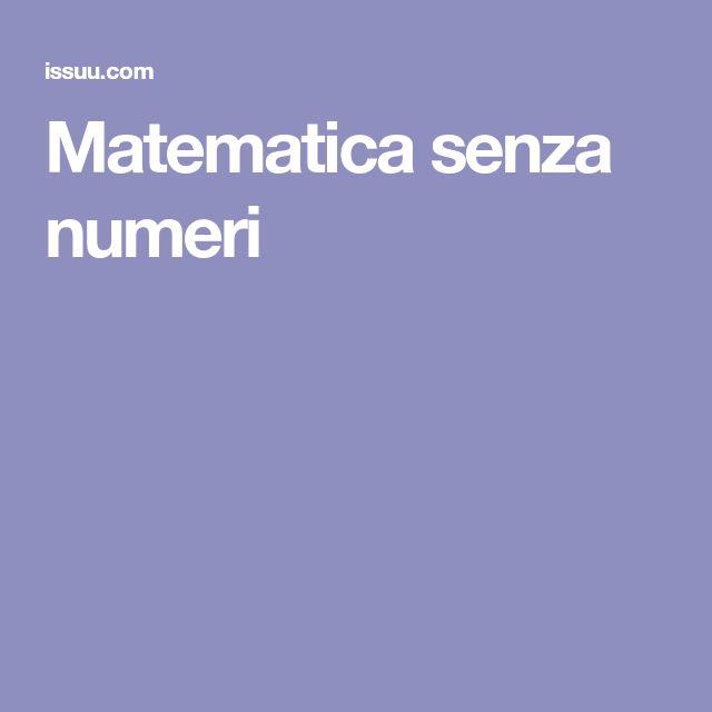 Matematica senza numeri