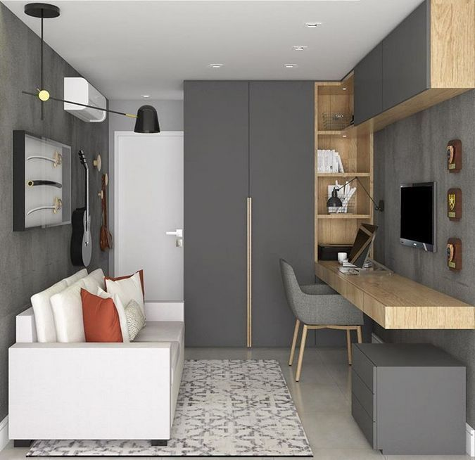 75 Inspiring Home Office Design Ideas For Small Spaces With Affordable Home Office Ideas Ideas In 2021 Home Office Design Office Interior Design Home Office Decor