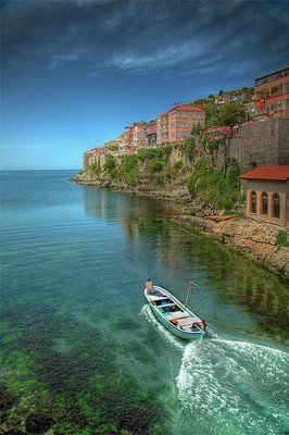 Amasra, Turkey... look at the water