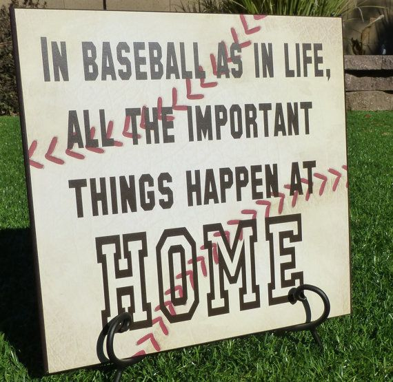 Baseball Board All things happen at home by sassytalk on Etsy