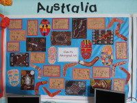 Australia Display, classroom display, class display, place, aborigines, art, Tribe, geography, boomerang, Early Years (EYFS), KS1 & KS2 Primary Resources