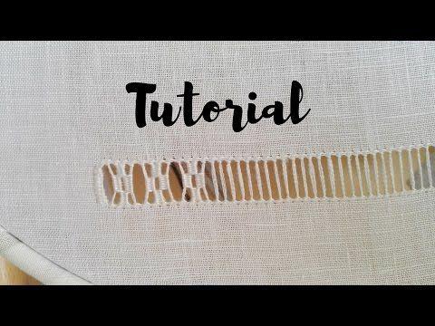 RICAMO Tutorial - Sfilatura a Rombi - YouTube