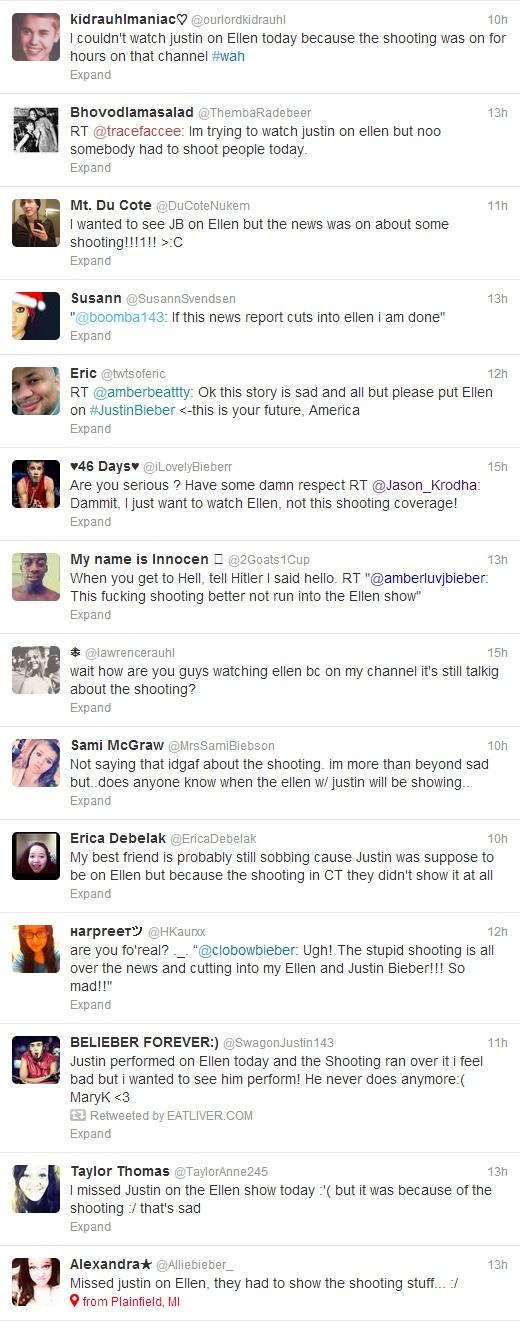 Bieber Fans Tweet About Cancelled Ellen Show During