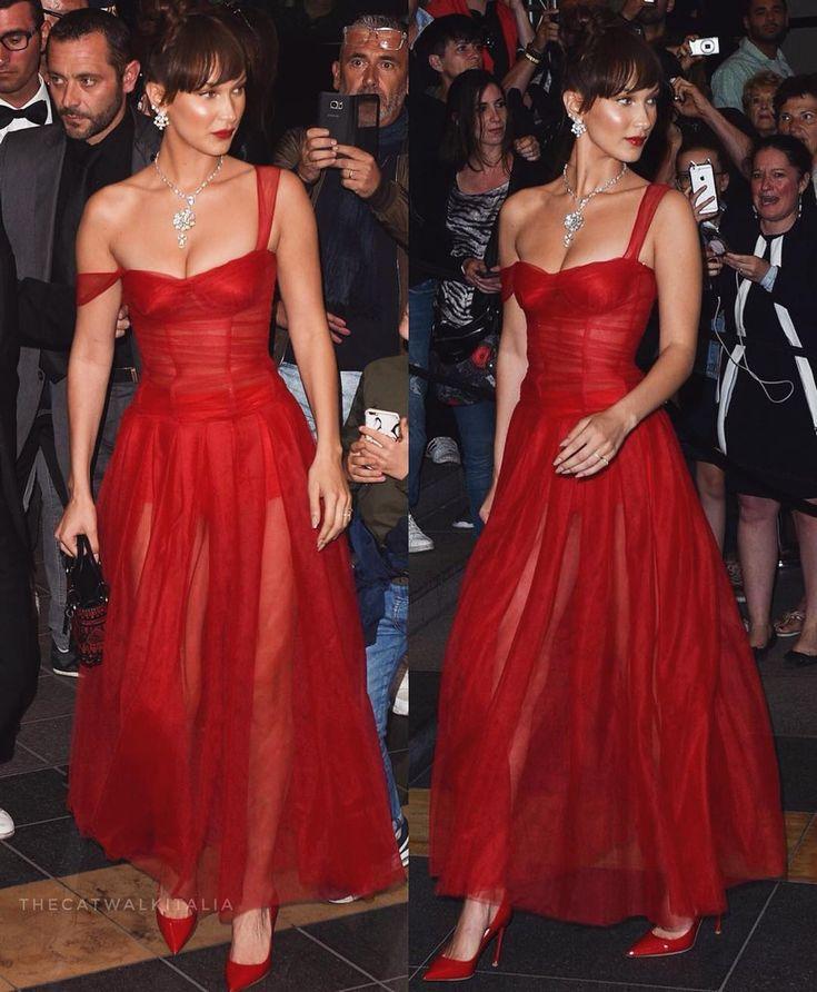 """The Catwalk Italia - TCI on Instagram: """"Midi red dress: 1➡️10?"""" 1"""