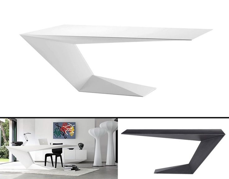 furtif desk is a striking futuristic piece of furniture