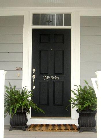 Black front door...love it