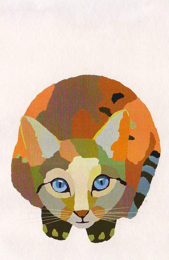 Love this cat-wonder if its oil, or acryllic