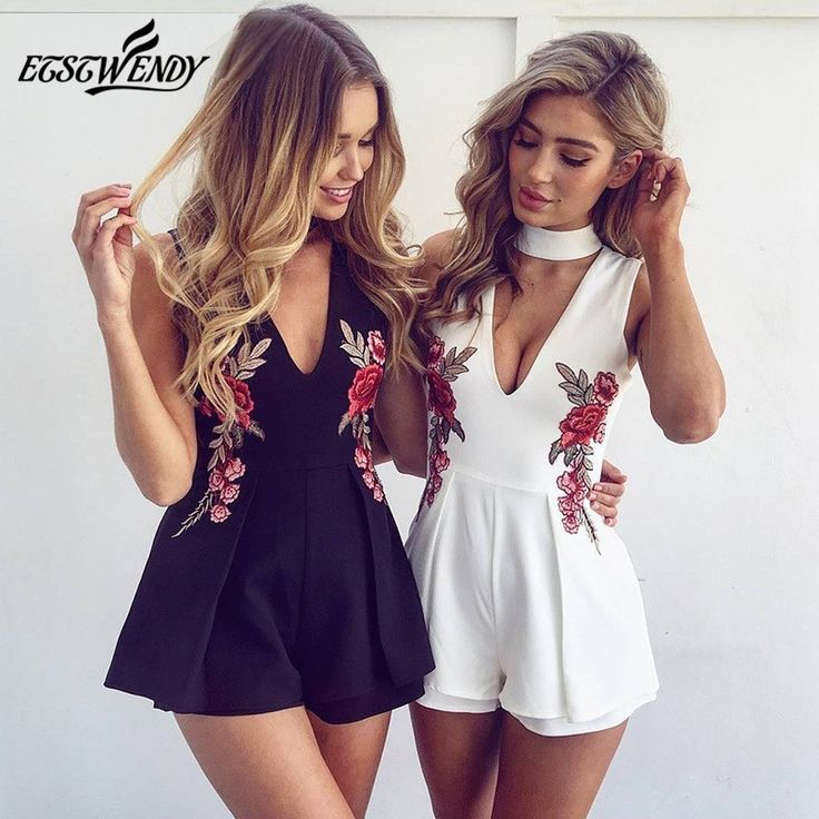 64 best body feminino images on pinterest be sexy rose embroidery v neck bodysuit white women jumpsuit body for women shorts for women body feminino summer jumpsuit women fandeluxe Images