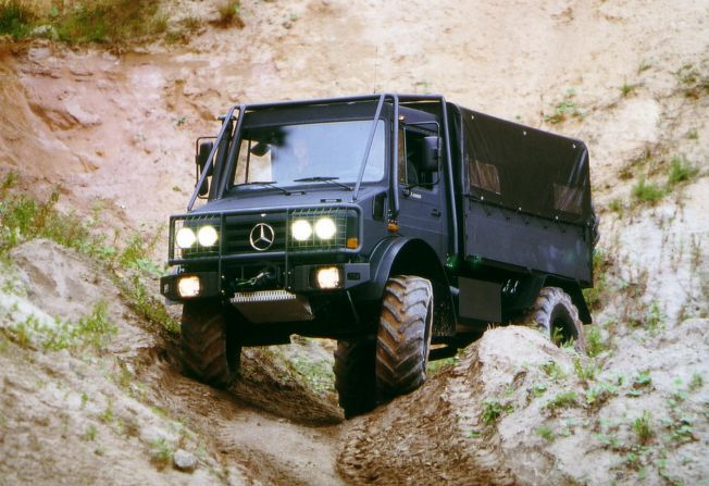 Mercedes Benz Truck. Great vehicle when Zombies attack!