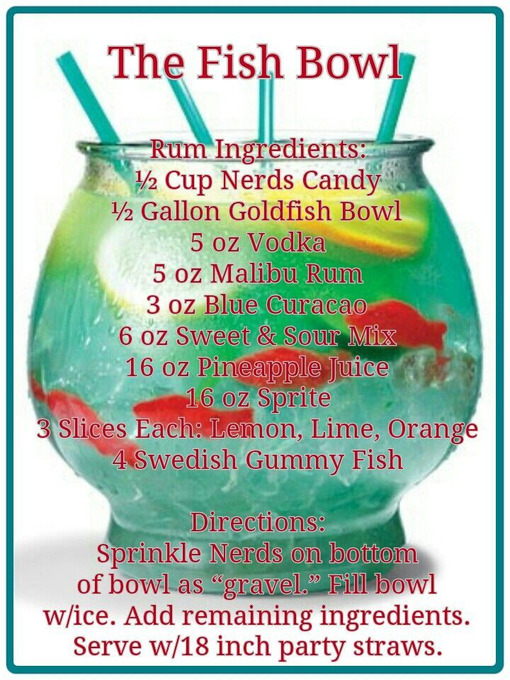 Best 25 fishbowl drink ideas on pinterest fish bowl for Fun alcoholic drink recipes
