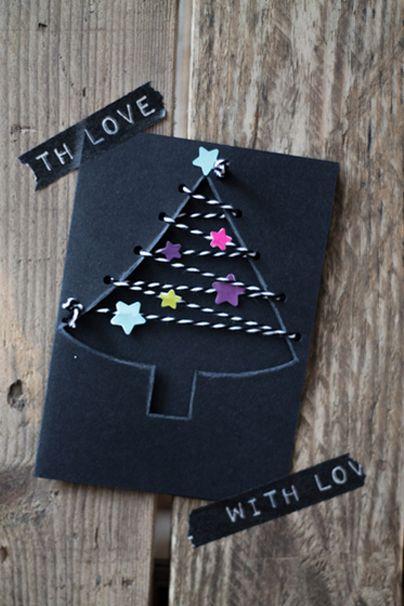Wir haben Euch zum zweiten Advent die allerschönsten DIY Weihnachtskarten herausgesucht. Auf die Schere, fertig, los!