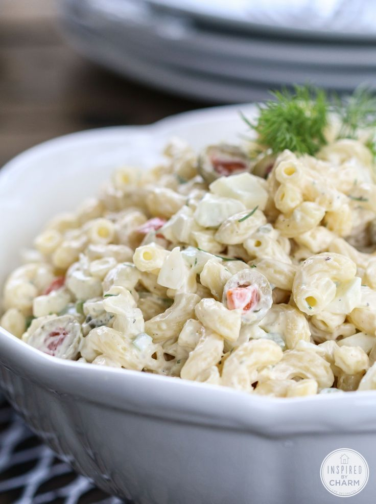 One of THE BEST Macaroni salads - lots of great tips to make it extra tasty!