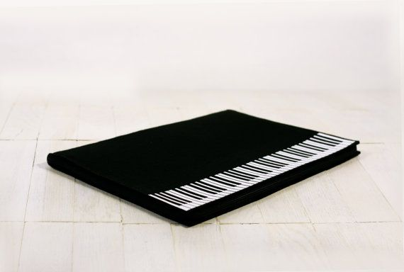 Music Felt Document Folder by krukrustudio on Etsy, $74.00