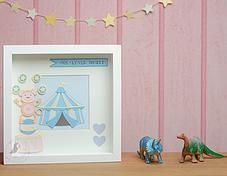 Pink Puffin Crafts | Framed Collection | Monkey Circus  | £28 | www.pinkpuffincrafts.co.uk