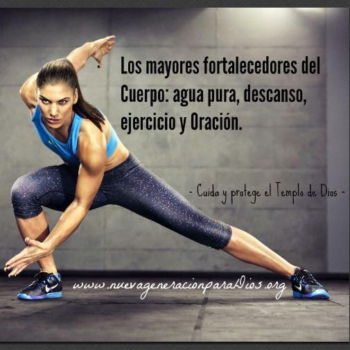 Los mayores fortalecedores del cuerpo: agua pura, descanso, ejercicio y oración