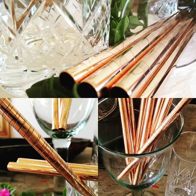 NEW smoothie straws! #copper #mixology #noplastic #ecofriendly