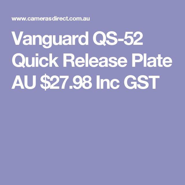 Vanguard QS-52 Quick Release Plate  AU $27.98 Inc GST