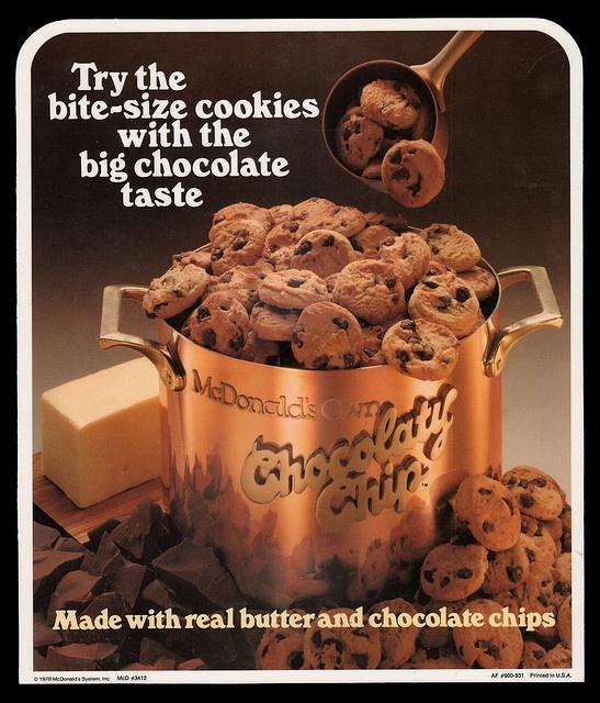 McDonald's - Plastic Signage - Chocolaty Chip Cookies - 1978