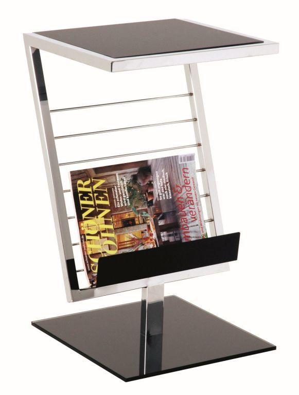 89554 Beistelltisch Schwarz Silber Glas Metall Beistelltische Beistelltisch Home Design