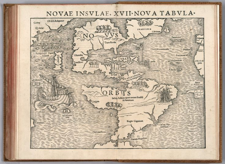 """novae insulæ XVII nova tabula"" 