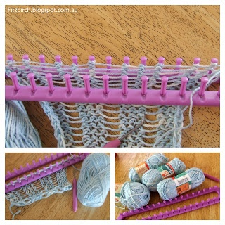 FitzBirch Crafts: Quick Loom Knit Scarf