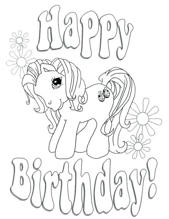 Free Happy Birthday Coloring Pages Happy Birthday Grandma Coloring Pages Educat Coloring Birthday Cards Happy Birthday Coloring Pages My Little Pony Coloring
