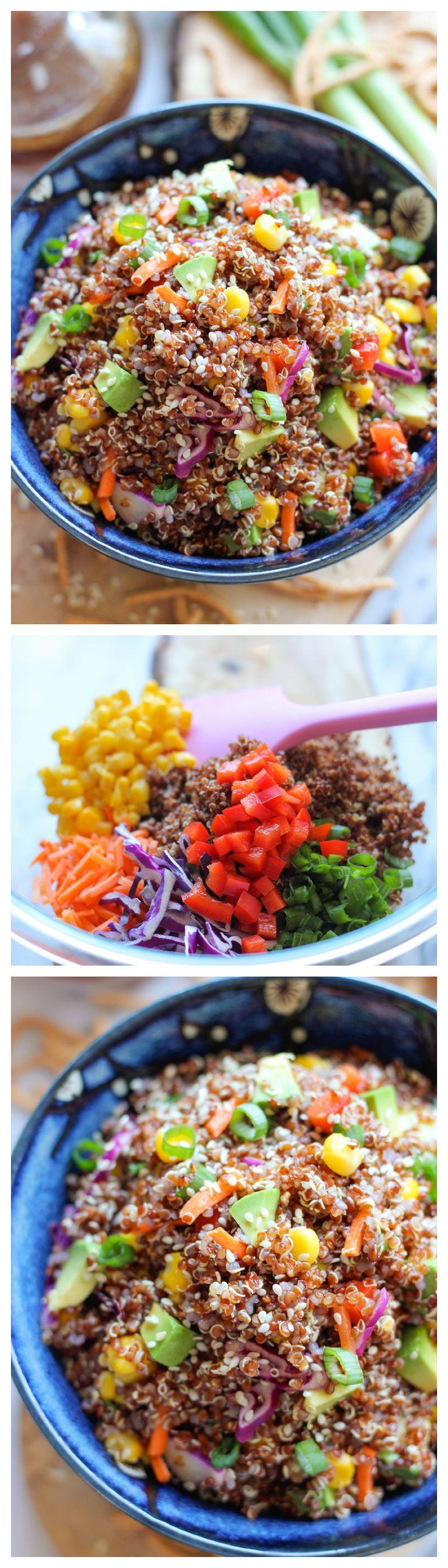 Asian Quinoa Salad #protein #veggielove