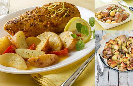 Fırında patatesli tavuk, misafirlerinize hızlı bir şekidle hazırlayabilecğeiniz bir lezzettir. Fırında patatesli tavuk ile üstelik son derece şık bir menü yapabilirsiniz.