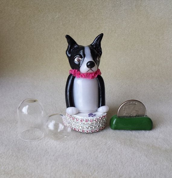 Battery operated miniature Boston Terrier LED light RESERVED Made to Order on Etsy, $23.00