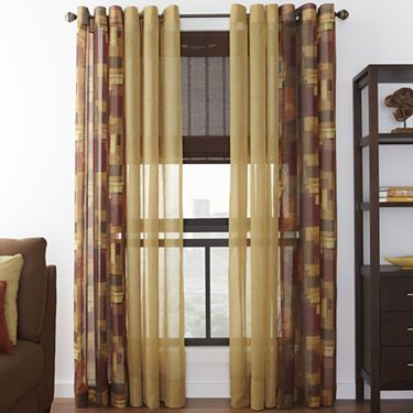 Tops and studios on pinterest for Jcpenney living room curtains