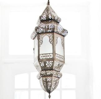 Marokkaanse messing lamp | Marokkaanse lampen & Sfeerverlichting | Woonaccessoires | El Ramla Hamra