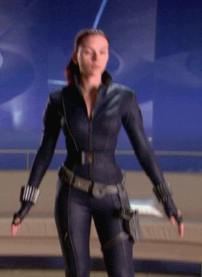- All The Great Gifs - scarlett,johanson,latex,suit,incredible,woman